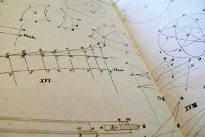 """Ein Ausschnitt aus dem Band """"Geographische Trigonometrie"""" aus dem Jahr 1825."""