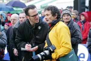 Christian Jöricke und Herbert Steffny beim Silvesterlauf 2008. Archiv-Foto: Daniel Prediger